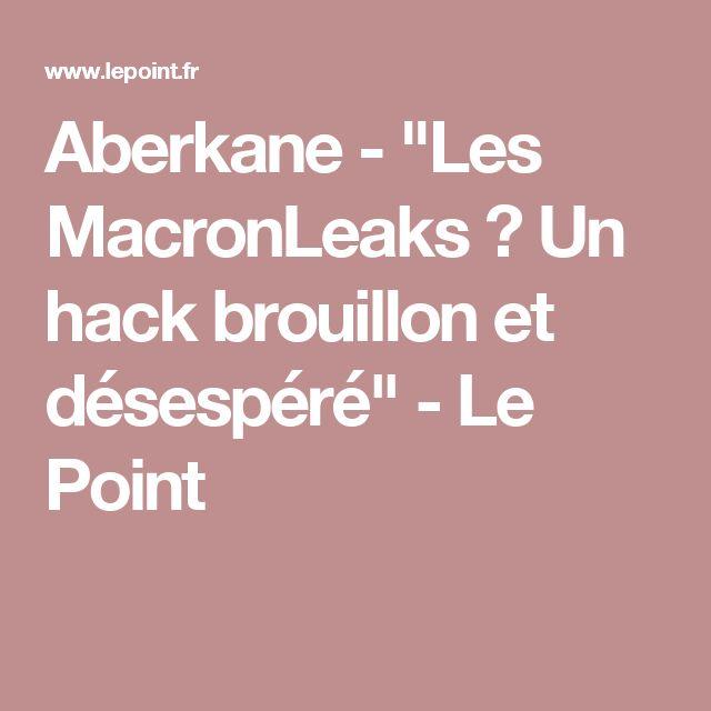 """Aberkane -""""Les MacronLeaks? Un hackbrouillon et désespéré"""" - Le Point"""