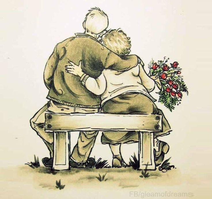 Old Age Couple Quotes: Elderly Couple Sitting On Bench