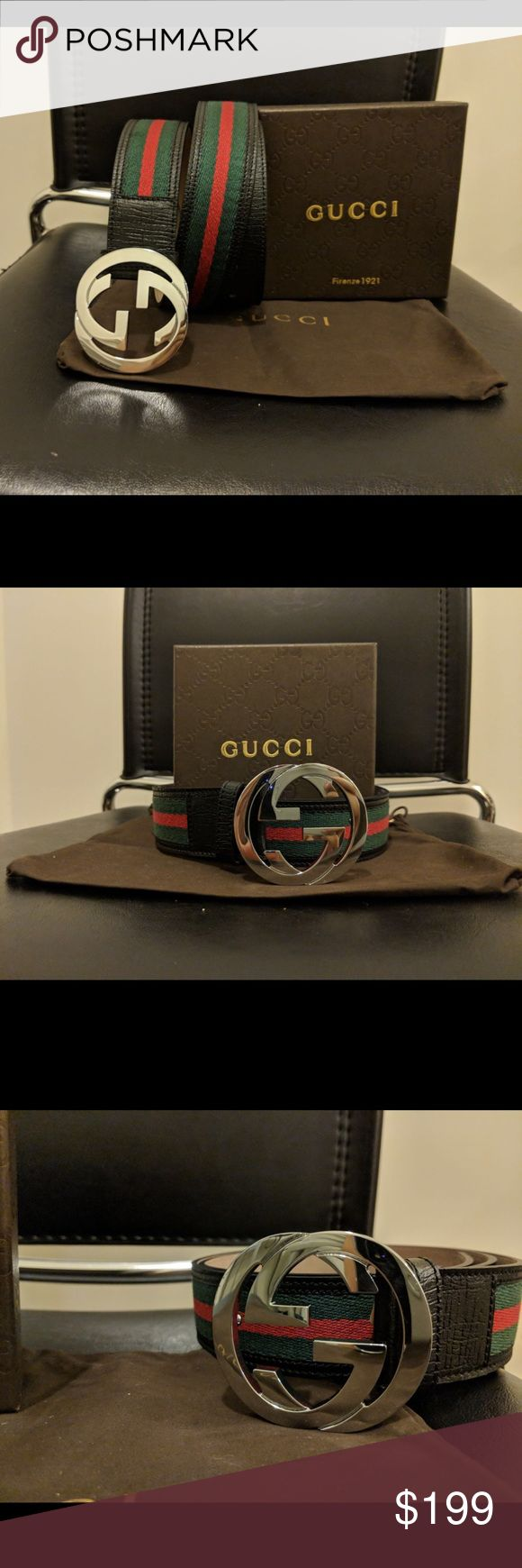 Brand New Authentic Men Gucci Belt Green Red 100% Authentic   Comes with box, dust bag and original tags  Ships next business day!  Retails for $450 Gucci Accessories Belts