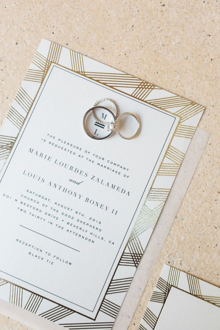 Elegant And Cly Wedding Stationery Perfect For This Black Tie In The Iconic Beverly