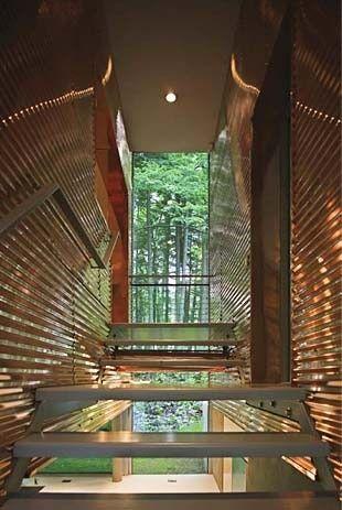 11 painéis de papelão ondulado para a entrada de design moderno casa moderna