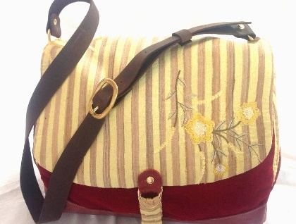 Pick and Mix Florence Satchel Bag - Yellow and Red