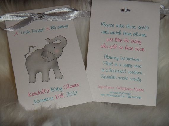 Elephant Seed Packets for a Baby Shower or 1st Birthday ...