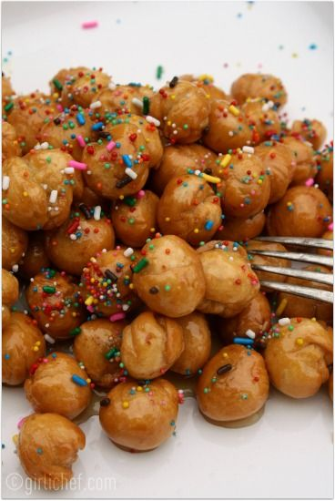 Mmmmm can't wait to try these #Stuffoli (honey fritters) at our #Abruzzo e #Molise Long Table
