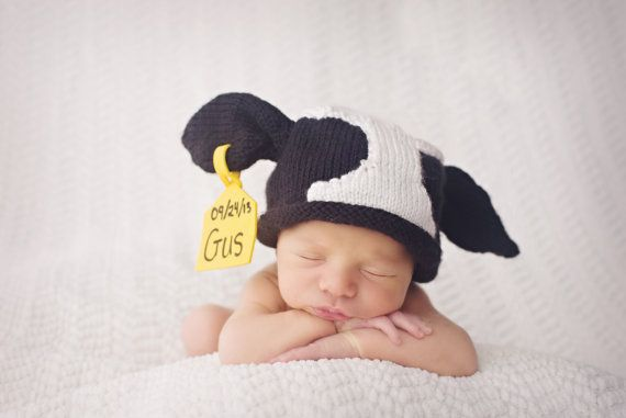 Hey, I found this really awesome Etsy listing at https://www.etsy.com/listing/195466980/original-knitted-newborn-cow-hat-with