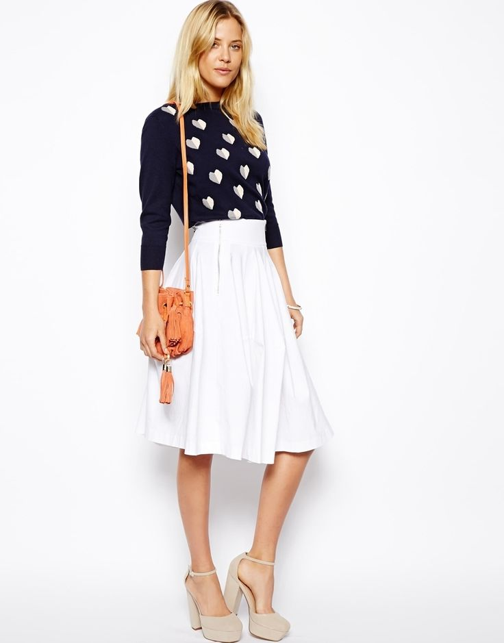 Midi Skirt With Zips by ASOS - Found on HeartThis.com @HeartThis | See item http://www.heartthis.com/product/184817387785955450?cid=pinterest