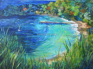 Trinidad Painting - Parlatuvier Bay Tobago by Tonya  Rowley