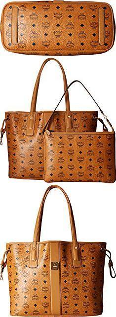 Mcm Bags. MCM Women's Reversible Shopper Tote, Cognac, One Size. #mcm #bags #mcmbags
