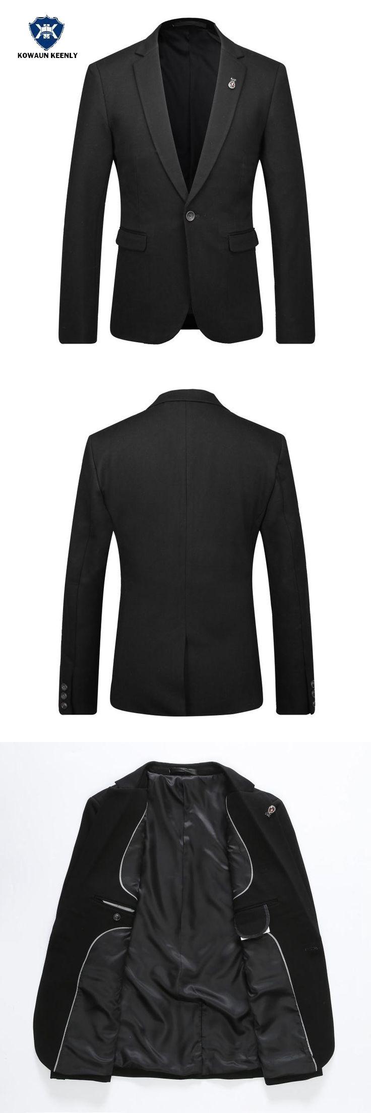 2017 Stylish Men Slim Fit Solid  Black Suit Jacket Luxury Casual Blazer Wedding Dress Party Suit Business Dress Men Clothing