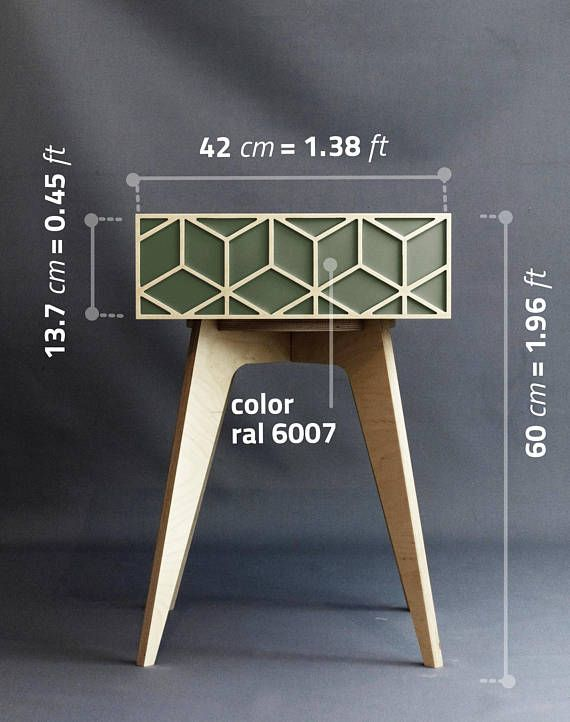 Nightstand bedside table plywood furniture plywood design