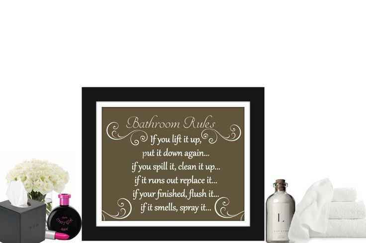 Bathroom wall art and decor, Bathroom rules sign, brown bathroom, bathroom artwork, bathroom prints, by LorisDigitalDesigns on Etsy