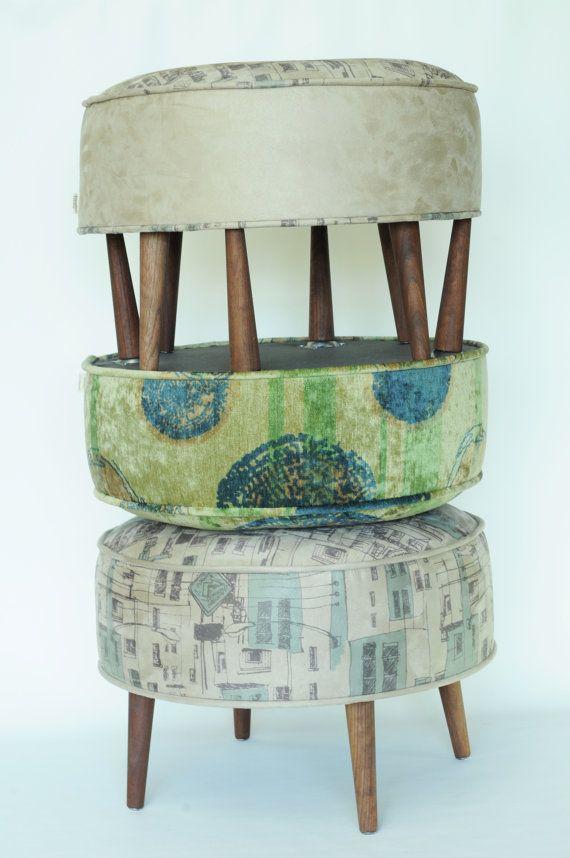 pouf repose pied tabouret banc meuble meuble par FoutuTissu sur Etsy