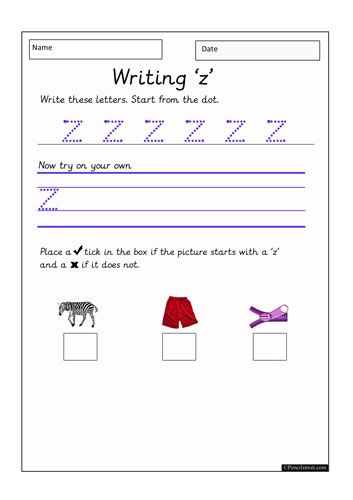 Worksheet Resource = 10-1130 Practice writing the letter ...