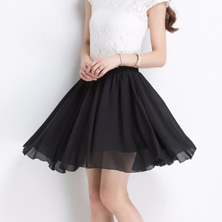 2017 Casual Summer Women Chiffon Mini Pleated Skirt Short Skirts Women High Waist Skirts