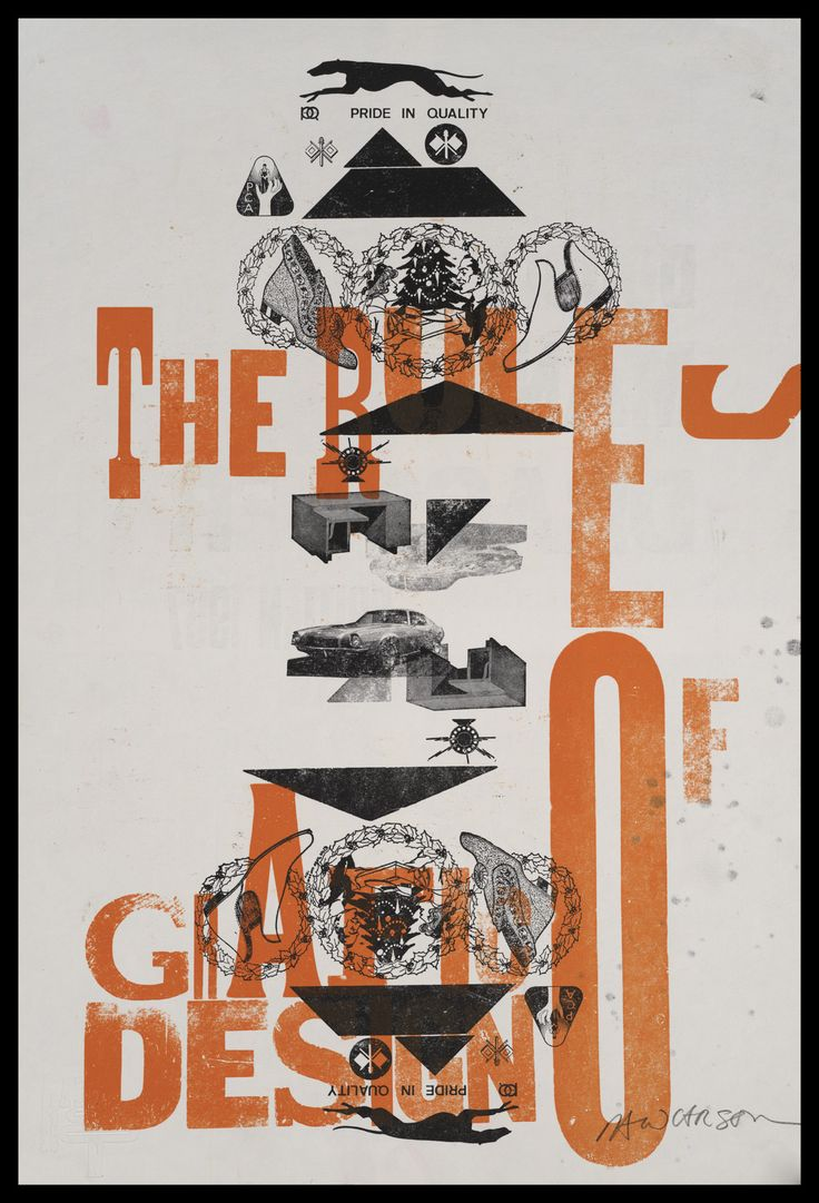 """Print 26/41. """"Rules of Grafic Design"""" series"""