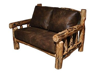 Shop For Rustic Log Timber Frame (Love Seat) In Gnarly Log, TFRA  · Country  FurnitureTimber ...