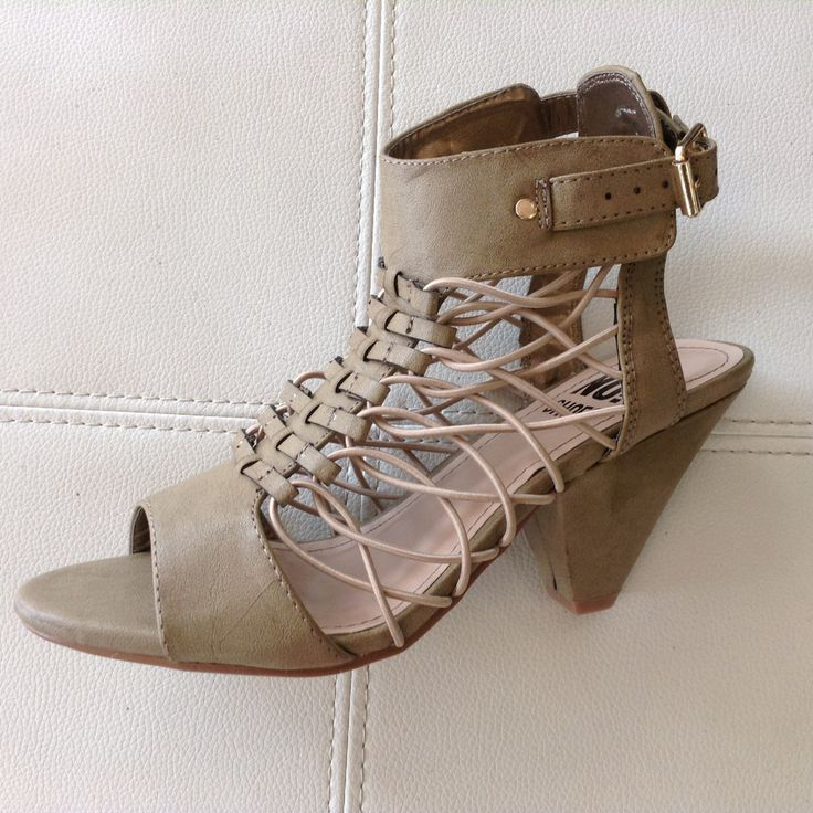 """No! Shoes """"Cagey"""" Mid heel, Peep Toe (2 colours)"""