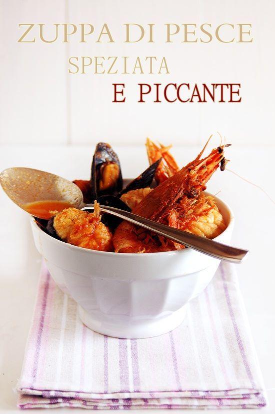 Zuppa di pesce speziata, piccante e dietetica | Mamma Papera