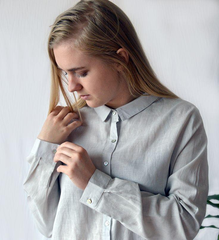 The Classic Linen Shirt - Slate