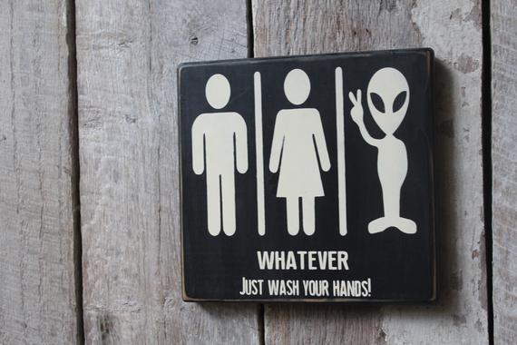 Details about  /Restroom Sign Bathroom Sign Whatever 1