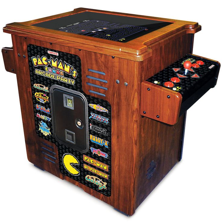 dream arcade~~The 30th Anniversary Authentic Pac-Man Arcade Cocktail Table.  DescriptionArcade GamesLifetime Guarantee  Made by Namco, designers of the original Pac-Man video game, this arcade cocktail table commemorates the 30th anniversary of Pac-Man and is identical to the cabinets played in pizza parlors and malls since the 1980s.