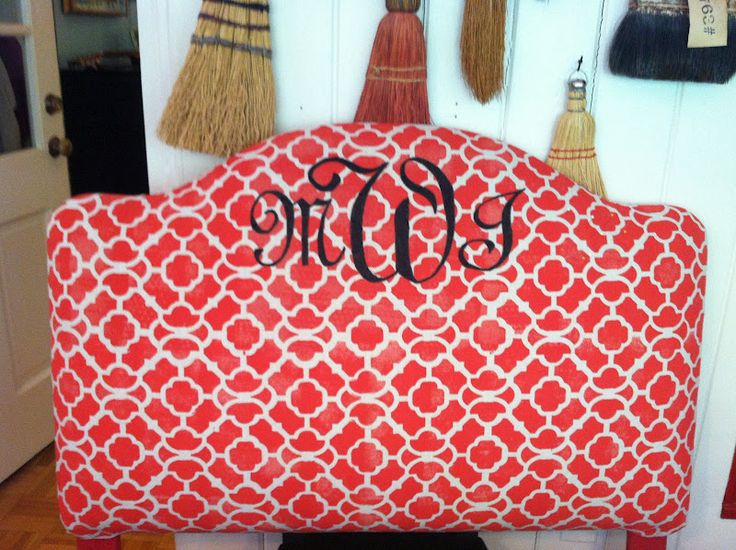 stenciled dropclothColleges Life, Lucy Lampshades, Dorm Life, Diy Headboards, Dorm Ideas, Dorm Room Headboards, Monograms, Lucy'S Lampshades, Diy Dorm Room