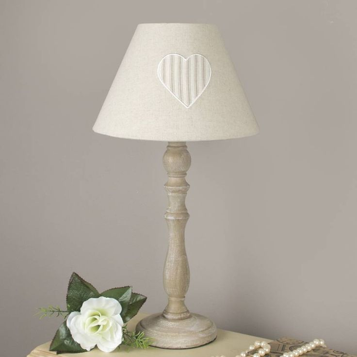 French Stripe Heart Lamp With Shade from notonthehighstreet.com