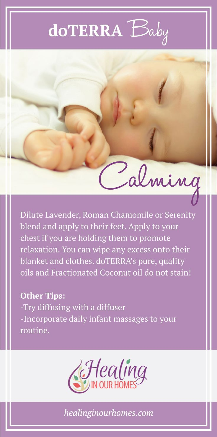 A calming doTERRA blend for baby that promotes relaxation.