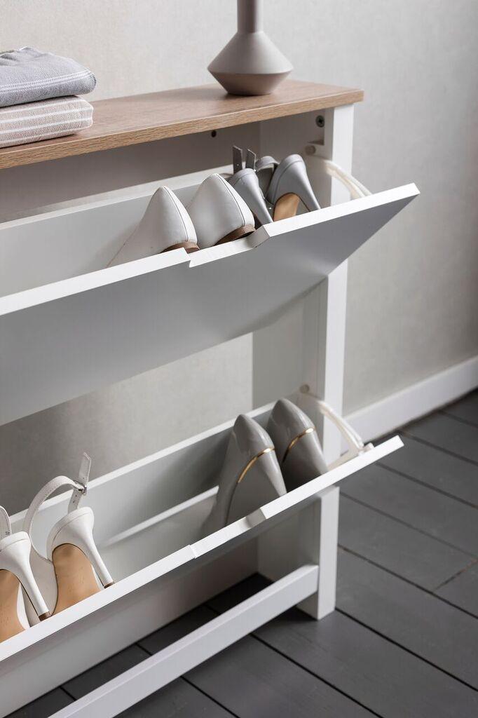Noa and Nani Tromso Shoe Storage Unit in White Shoe Cabinet | £99.99 | #ShoeStorage #Furniture #HomeDecor