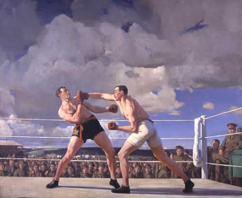 Physical Training at Witley Camp - Dame Laura Knight 1928