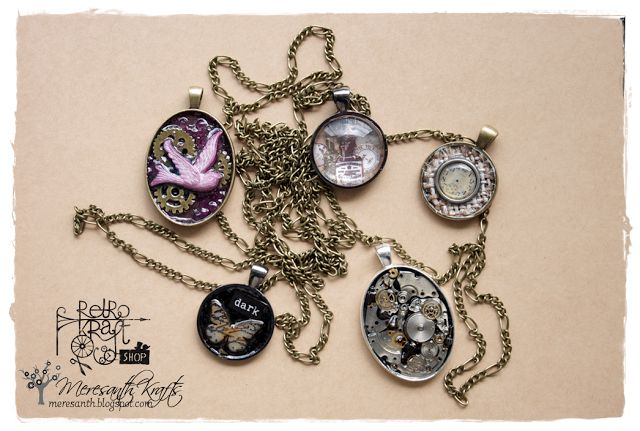 Retro Inspiracje: Pięć wisiorków / Retro Inspirations: Five pendants