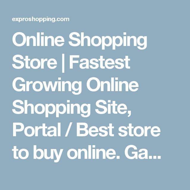 Online Shopping Store | Fastest Growing Online Shopping Site, Portal / Best store to buy online. Games | Expro Shopping contains the all kinds of games, consoles, gaming titles, accessories, merchandise and controllers in India