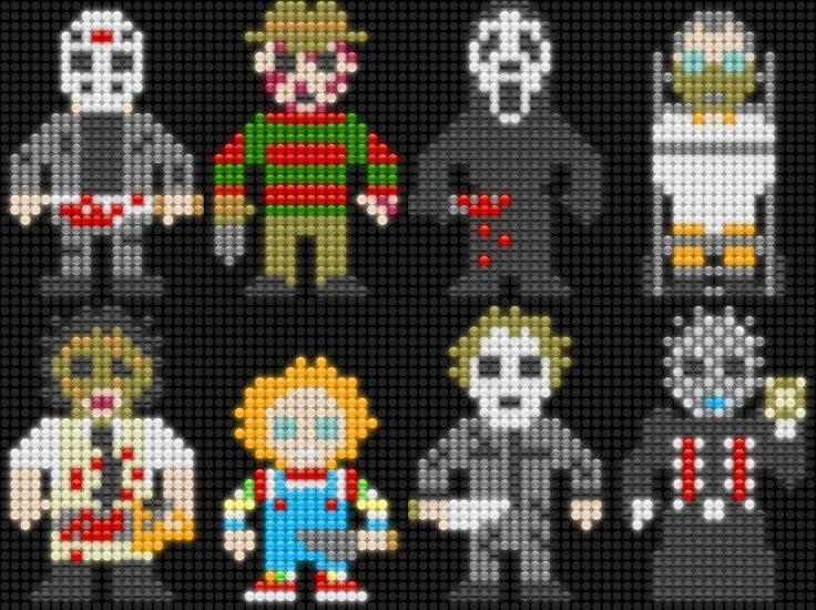 horror perler beads - Google Search