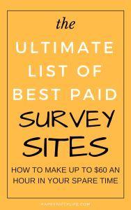 Ultimate list of best paid survey sites