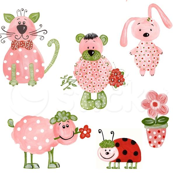 Fabric Wall sticker SPRING ANIMALS by Sticky!!!