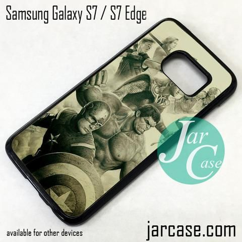 The Avenger In Art Phone Case for Samsung Galaxy S7 & S7 Edge