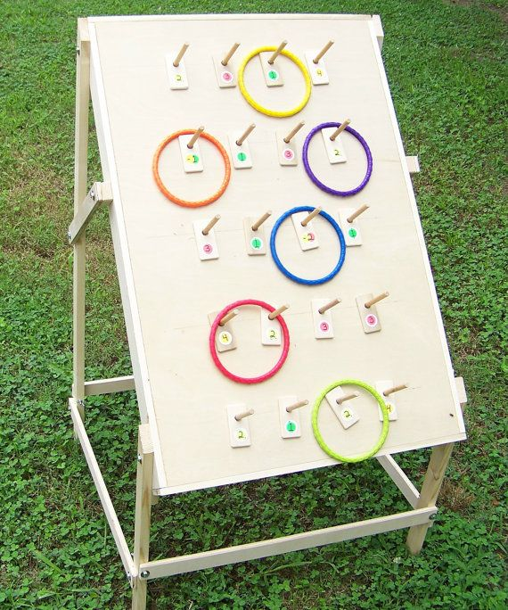 Ring toss game fun for adults and children alike indoor Homemade games for adults