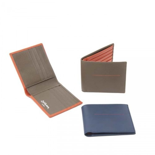 http://shop.billamberg.com/hip-wallet/ This luxurious leather wallet from the soft classic range is realised in matte calf, always with a contrast stitch detail on the outside