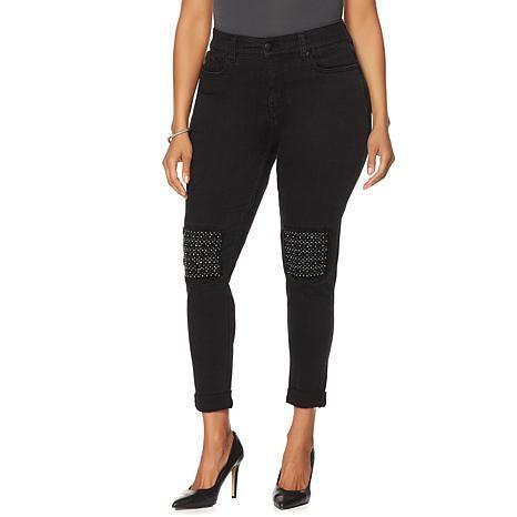 Melissa McCarthy Seven7 Studded Knee Skinny Jean