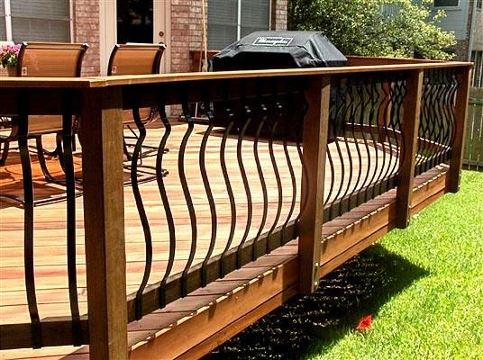 Best Curved Iron Railings Back Yard Patio Pinterest 400 x 300