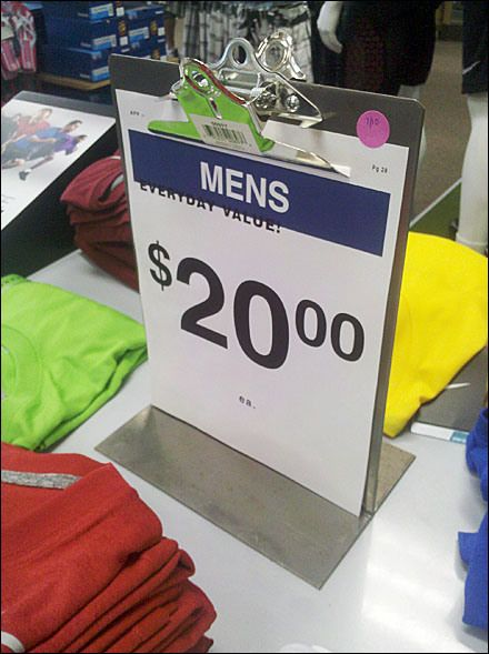 store clipboard sales display - 440×589