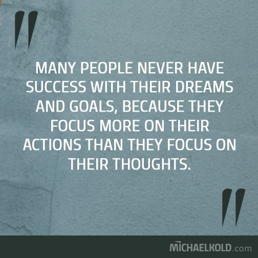 This is why many people don't have success with their dreams and goals...