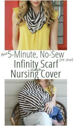 make a infininty scarf that doubles as a nursing cover with no-sew tape in 5 minutes! | Bean In Love