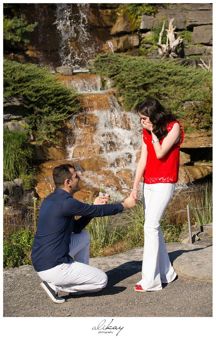 Surprise Proposal Botanical Garden | Ali Kay Photography