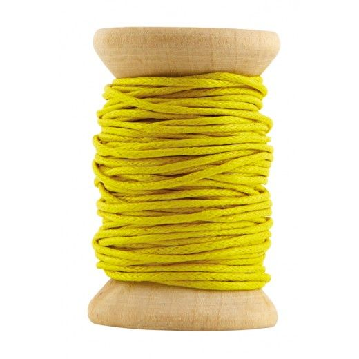 Mustard waxed cord ribbon 10 m - House Doctor DK