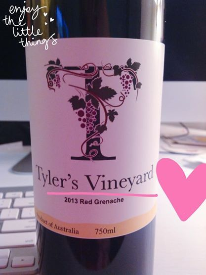 Tyler's Vineyard 2013 Red Grenache from the Swan Valley, WA