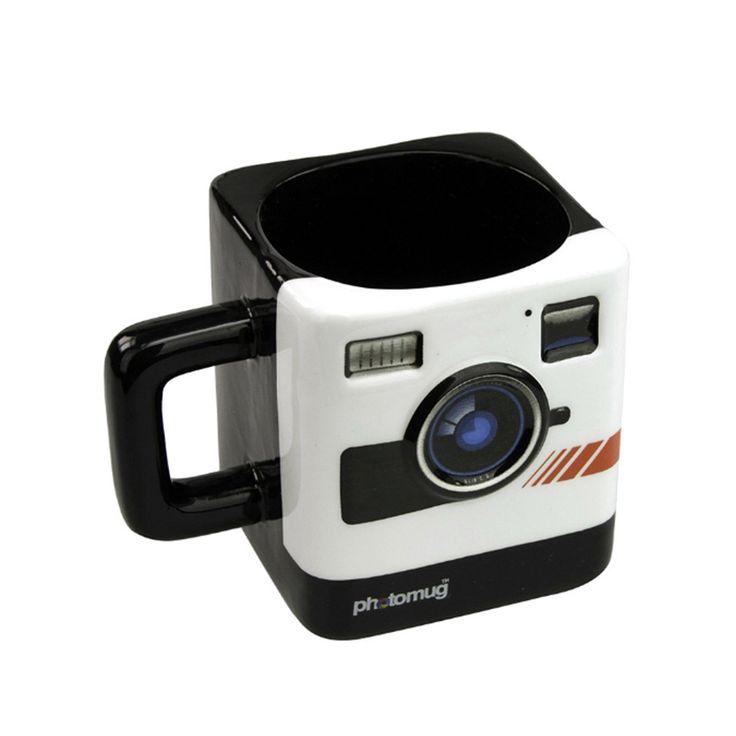 Transhome Creative Photo Mug 350ml New Fashion Coffee Mug British Mustard Photo Polaroid Camera Lens Cup. Click visit to buy #Mug