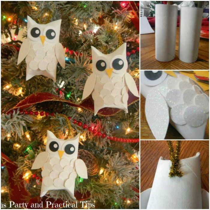How to DIY Cute Snow Owls Christmas Ornament