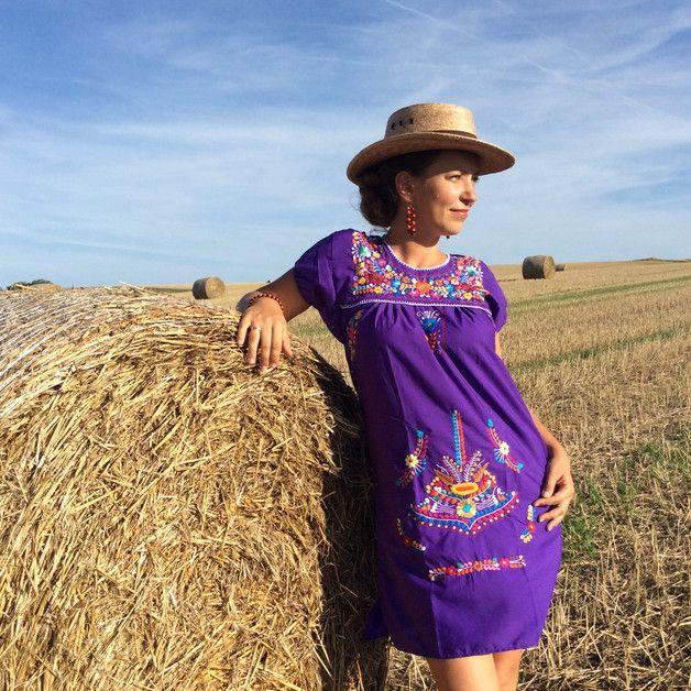 Entdecke lässige und festliche Kleider: Minikleid FLORIDA S, M, mexikanische Mode made by ModaFrida - Ethnic Fashion via DaWanda.com