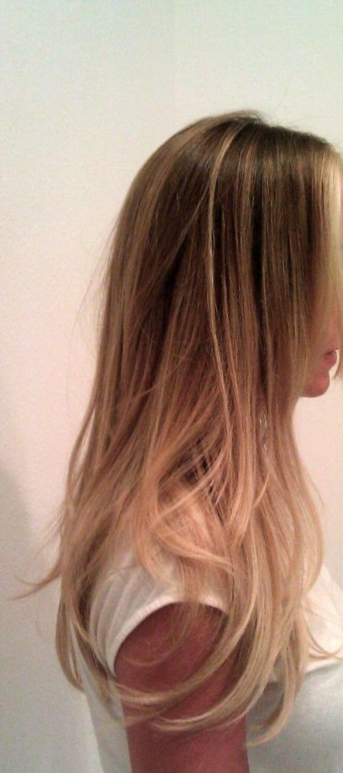 Light brown ombre.